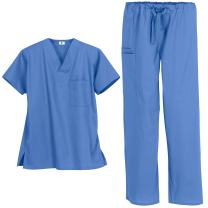 Strictly Scrubs Unisex Classic Scrub Set (XS-3X, 14 Colors) - Includes 1 Pocket Top and Pant