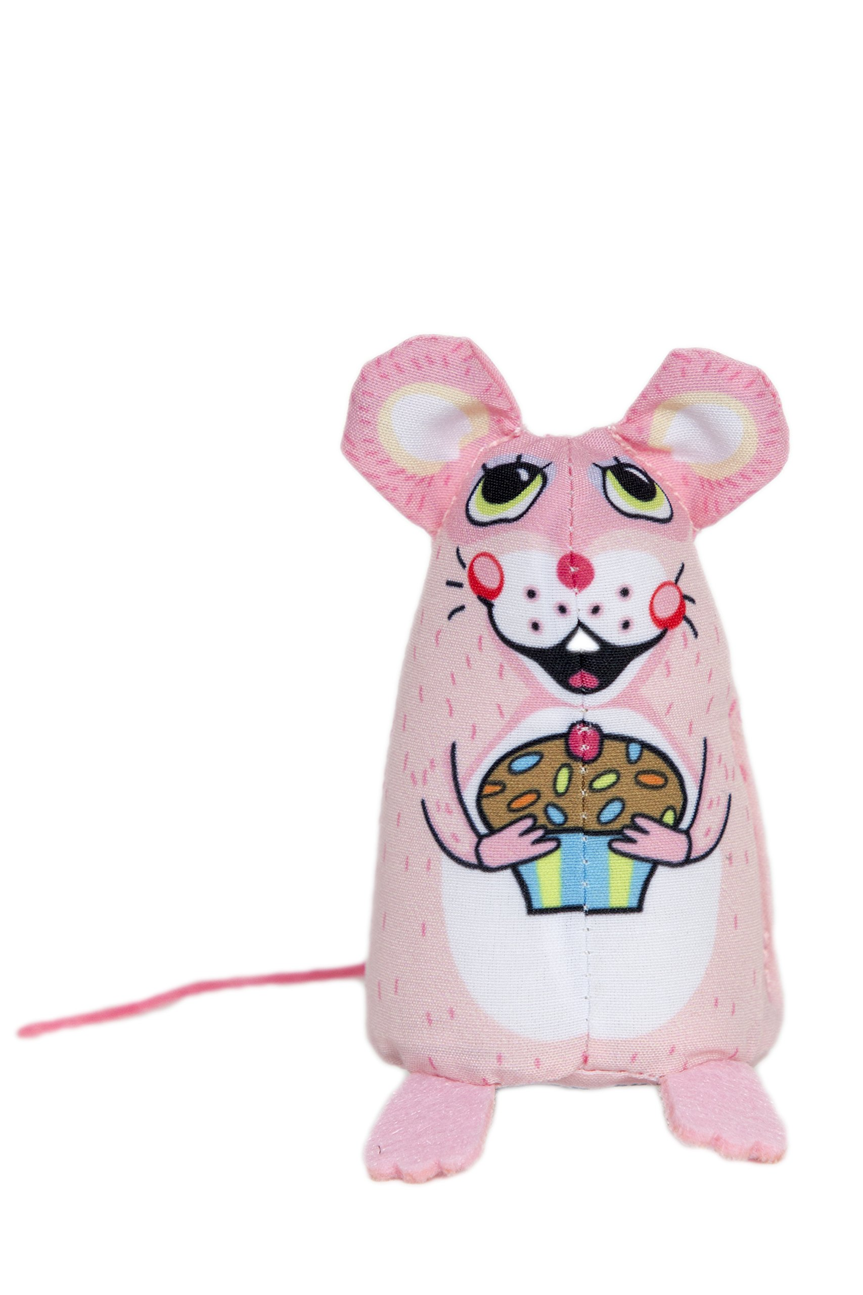 FUZZU Sweet Baby Mice Cute & Enticing Cat Toys - Whisker Twitching Treat, Hand Illustrated, Premium Quality, Durable Non-Toxic Material, Felt & Satin Cord Accents, U.S. Grown Certified Organic Catnip