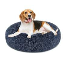 GORDITA Dog Bed for Large Dogs Comfortable Donut Cuddler Round Dog Bed Anti-Slip Faux Fur Pet Bed Ultra Soft Pet Cushion Bed for Dog Cat Joint-Relief and Improved Sleep (32'' x 32')