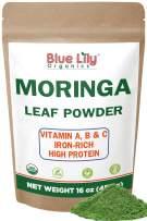 Organic Moringa Oleifera Leaf Powder 1 Pound (16 Oz) 100% Pure Certified Organic - Natural Energy & Metabolism Boost - Non-GMO, Vegan, Green Raw Superfood