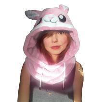 Animal Hood Onesie - Panda, Unicorn Hat Costume, Adults, Kids, Festival, Rave