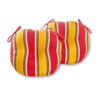 Greendale Home Fashions AZ5816S2-CARNIVAL Fiesta Stripe Outdoor 15-inch Bistro Seat Cushion (Set of 2)