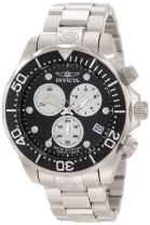 Invicta Men's 11484 Pro Diver Chronograph Black Dial Stainless Steel Watch