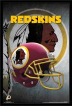 """Trends International NFL Washington Redskins - Helmet, 22.375"""" x 34"""", Black Framed Version"""
