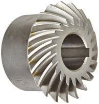 "Boston Gear HLSK118YL Spiral Miter Gear, 35 Degree Spiral Angle, 1:1 Ratio, 1.250"" Bore, 6 Pitch, 24 Teeth, Steel with Hardened Teeth"