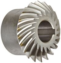 "Boston Gear HLSK107YL Spiral Miter Gear, 35 Degree Spiral Angle, 1:1 Ratio, 1.500"" Bore, 6 Pitch, 24 Teeth, Steel with Hardened Teeth"