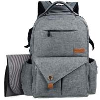 Diaper Bag Backpack Travel Backpacks (5284H3-Grey)