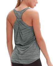 icyzone Workout Tank Shirts for Women - Athletic Exercise Yoga Gym Tops, Womens Muscle Tank