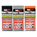 RediTape 10932 Colored Compact Flat Fold Duct Tape   for Travel, Camping, Photography and Emergencies   Pocket Size, 3-Pack, Black, Orange, Silver