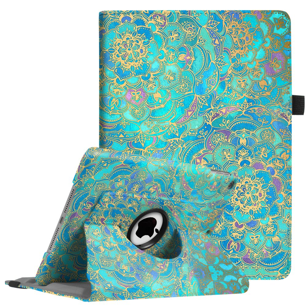 Fintie Case for iPad 9.7 2018 2017 / iPad Air 2 / iPad Air - 360 Degree Rotating Stand Protective Cover w/Auto Sleep Wake for iPad 9.7 inch (6th Gen, 5th Gen) / iPad Air 2 / iPad Air, Shades of Blue