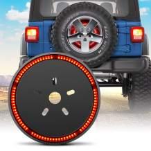 Spare Tire Brake Light, Sakeye for Jeep Wrangler 3rd Third Brake Light Wheel Light Rear Tail Light Compatible with 1987-2020 Jeep Wrangler JL JLU JK JKU YJ TJ/LJ, Red Lights
