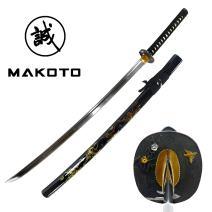 MAKOTO Hand Forged Razor Sharp Katana Sword with Hand Painted Scabbard