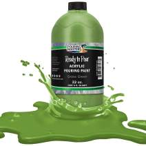 Pouring Masters Grass Green Acrylic Ready to Pour Pouring Paint – Premium 32-Ounce Pre-Mixed Water-Based - for Canvas, Wood, Paper, Crafts, Tile, Rocks and More