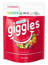 YumEarth Giggles Organic Chewy Candy, Fruit Flavored, 5 Ounce , 6 Count