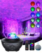 Galaxy Projector Star Projector, Used in Bedroom Sky Lite Projector, with Music Speaker and Remote Control, Water Wave and Starry Sky Effect,Compatible with Alexa and Smart App