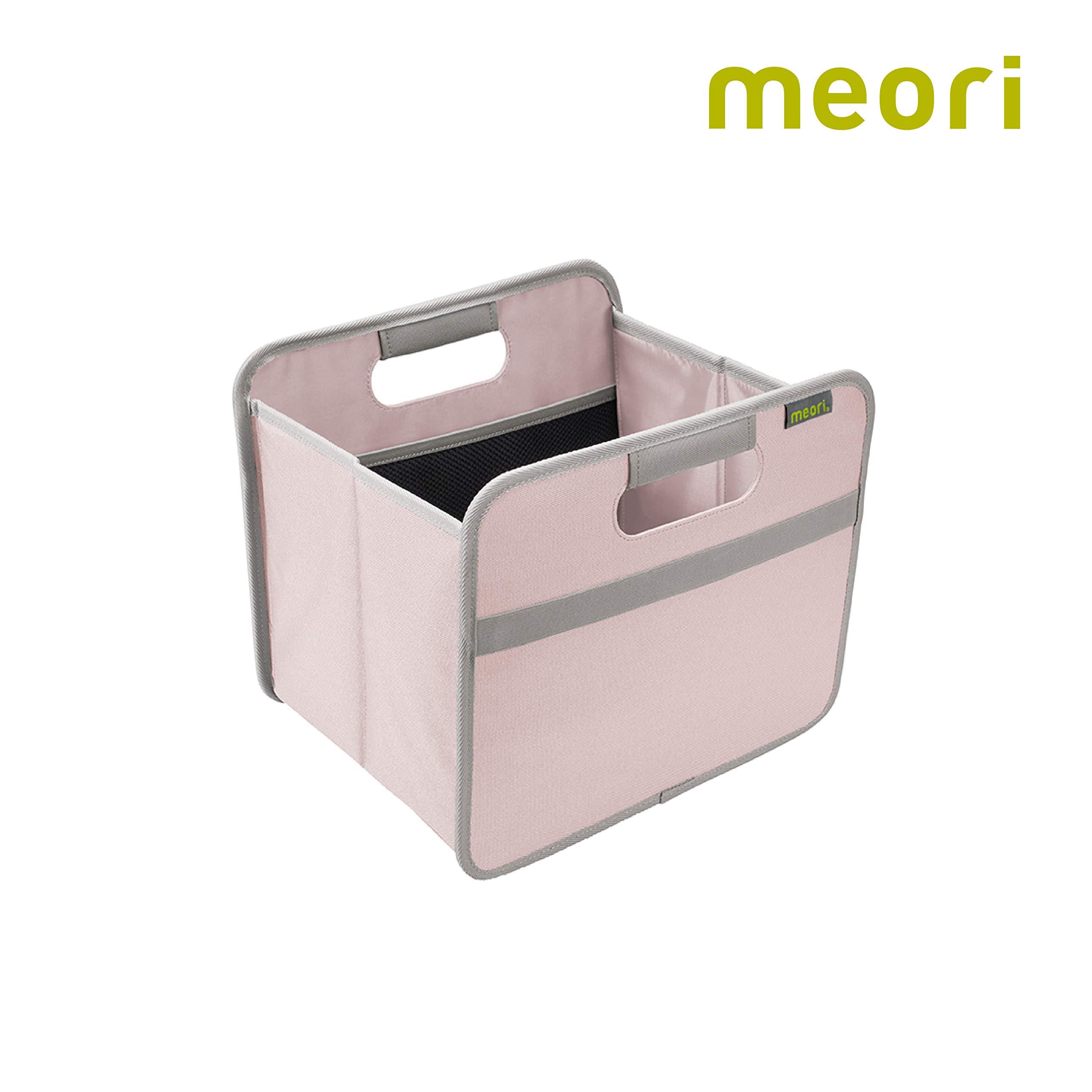 meori Rose Foldable Box Small Dream Shelf Storage Organizer Home Bathroom Wardrobe Kitchen Wipeable Stylish 15 Liter/4 Gallon, 1-Pack