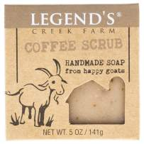 Coffee Scrub Goat Milk Soap - 5 Oz Bar - Great For Sensitive Skin - Certified Cruelty Free