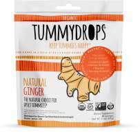 Natural Ginger Tummydrops (Resealable Bag of 30 Individually Wrapped Drops) Certified Oregon Tilth USDA Organic, Non-GMO Project, GFCO Gluten-Free, and Kof-K Kosher