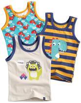 VAENAIT BABY Kids Boys Cotton Undershirts Tank Tops Dinoland Cream S