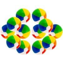 """12"""" Rainbow Colored Party Pack Inflatable Beach Balls - Beach Pool Party Toys (12 Pack)"""