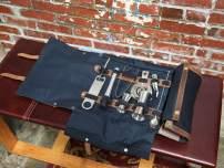 Bar tool bag Portable bartending kit Professional bartender tools bag Cocktail Equipment Case Drink Mixer Set Bartender Tool Roll Bag (Black)
