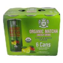 HYLEYS Tea Organic Matcha Energy Drink Citrus & Mango – 6 Pack 8.5 Fl Oz (250 ml) Each (Organic, Vegan, Gluten Free, Natural Flavor)