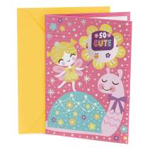 Hallmark Birthday Card for Kids (Fairy and Snail with Stickers)