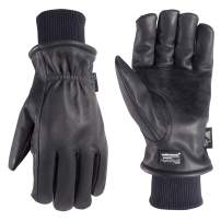 Men's Insulated Leather Water-Resistant Winter Work Gloves, Extra Large (Wells Lamont 1202XLK)