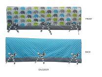 Bacati - Elephants Crib Rail Guard Cover (Small Set of 2 pcs, Aqua/Lime/Grey)
