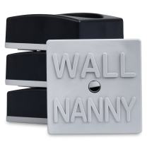 Wall Nanny Mini (4 Pack - Made in USA) Smallest Low-Profile Wall Protector for Baby Gates - Perfect in Doorways - Best Saver Cups Guard Pad Trim & Paint for Child Dog Pet Pressure Gate (Black)