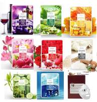 Deoproce Premium Variety 10 Pack Snail, Blueberry, Aloe, Pomegranate, Honey Collagen Color Synergy Effect Mask Pack
