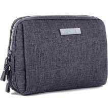 Small Makeup Bag for Purse Travel Makeup Pouch Mini Cosmetic Bag for Women Girls (Small, Dark Grey)