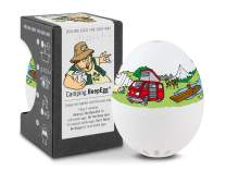 Brainstream BeepEgg Egg Timer, Edition, Cook Perfect Soft, Medium or Hard Boiled Eggs to Your Favorite Tunes Singing and Floating Egg Timer (Camping)