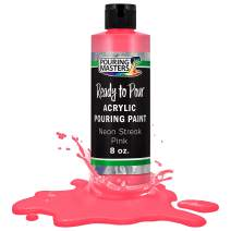 Pouring Masters Neon Streak Pink Acrylic Ready to Pour Pouring Paint – Premium 8-Ounce Pre-Mixed Water-Based - for Canvas, Wood, Paper, Crafts, Tile, Rocks and More