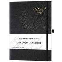 """2020-2021 Planner - Academic Weekly & Monthly Planner, 8.5"""" x 11"""", Soft Cover with Pen Holder and Thick Paper, Back Pocket with Julian Date - Bonus 24 Notes Pages + Gift Box - Black"""