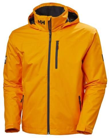 Helly-Hansen Womens Crew Hooded Midlayer Fleece Lined Waterproof Windproof Breathable Rain Coat Jacket