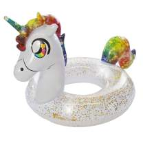 "PoolCandy Glitter 48"" Jumbo Rainbow Unicorn Pool Tube"