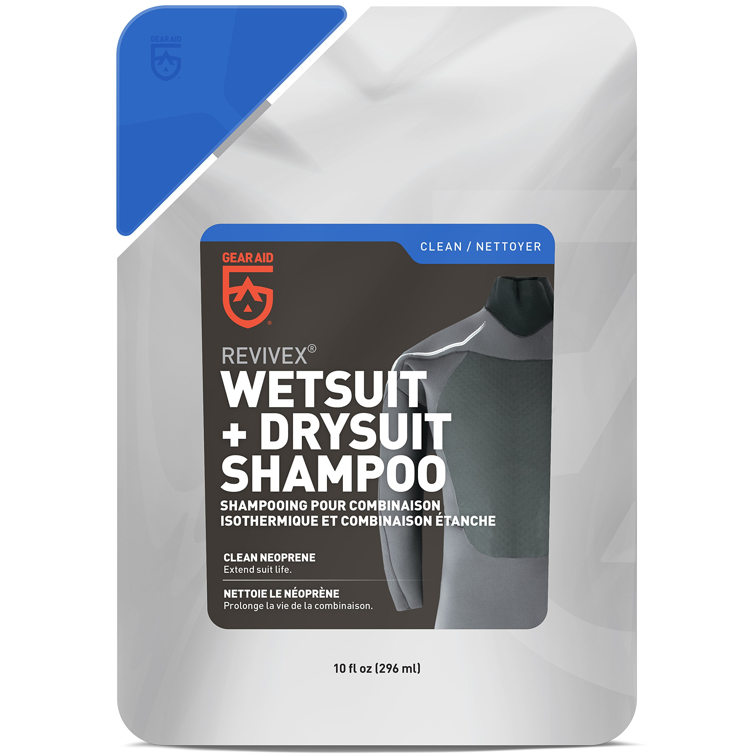 GEAR AID Wetsuit Cleaner and Conditioner, Removes Bacteria, Salt and Residue with Concentrated Shampoo