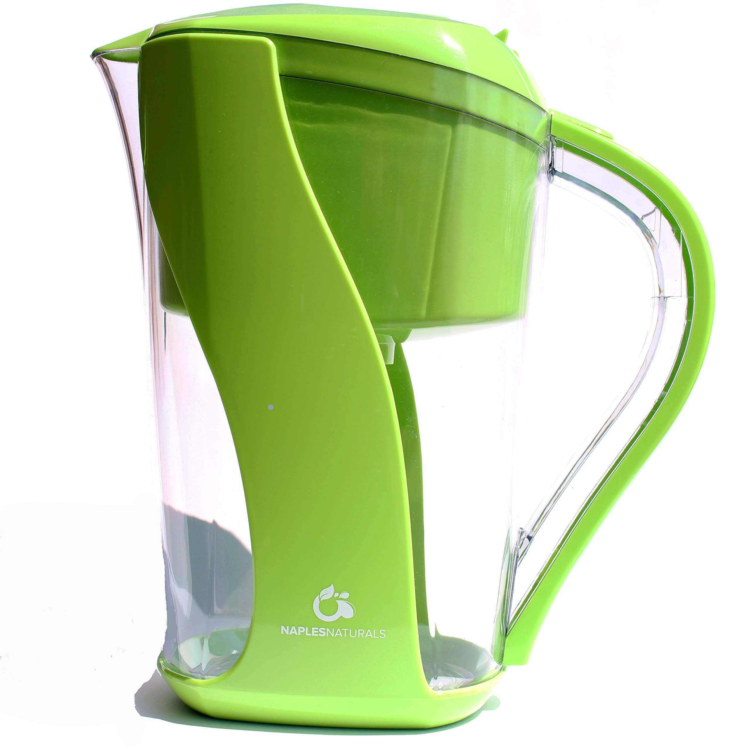 Naples Naturals 109X1 Alkaline Water Filter Pitcher - Removes Chlorine and Contaminants Plus Increases pH (Green), 109 Green, Model:AOK109-GRN-01