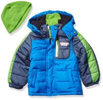 London Fog Boys' Little Color Blocked Puffer Jacket Coat with