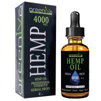 GreenIVe - Hemp Oil - Premium Quality Hemp Plant Oil - USA farmed and Bottled - Exclusively on Amazon (4 Ounce 4,000mg, Peppermint)