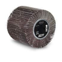 Eastwood Contour SCT Abrasive Flap Sanding Aluminum Oxide Drum 120 Grit with Plastic Hub for Paint Rust Remove Metal Conditioning