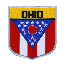 State Flag Shield Ohio Patch Badge Travel USA Seal Embroidered Sew On Applique