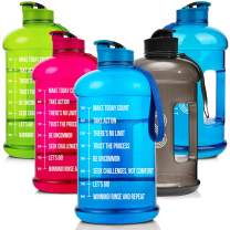 No Limit Water jug with Time Marker - Half Gallon Large BPA Free, Motivational Water Bottle, Reusable Leak Proof Bottle, Time Marked to Ensure Your Daily Water Intake, Fitness Water Jug 2.2L/73oz
