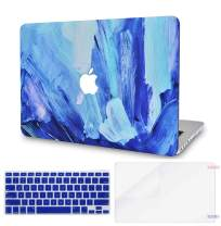 """LuvCase 3 in 1 LaptopCase forOld MacBook Pro 13"""" (CD Drive, 2008-2012) A1278HardShellCover, Keyboard Cover & Screen Protector(Oil Paint 5)"""