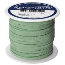 Realeather Craft Suede Lace, Fresh Green