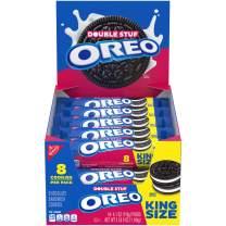 OREO Double Stuf Chocolate Sandwich Cookies, Original Flavor, 10 King Size Snack Packs