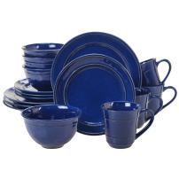 Certified International 40168 Orbit 16 pc. Dinnerware Set, Service for 4, Cobalt Blue