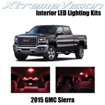 Xtremevision Interior LED for GMC Sierra 2015+ (2 Pieces) Red Interior LED Kit + Installation Tool