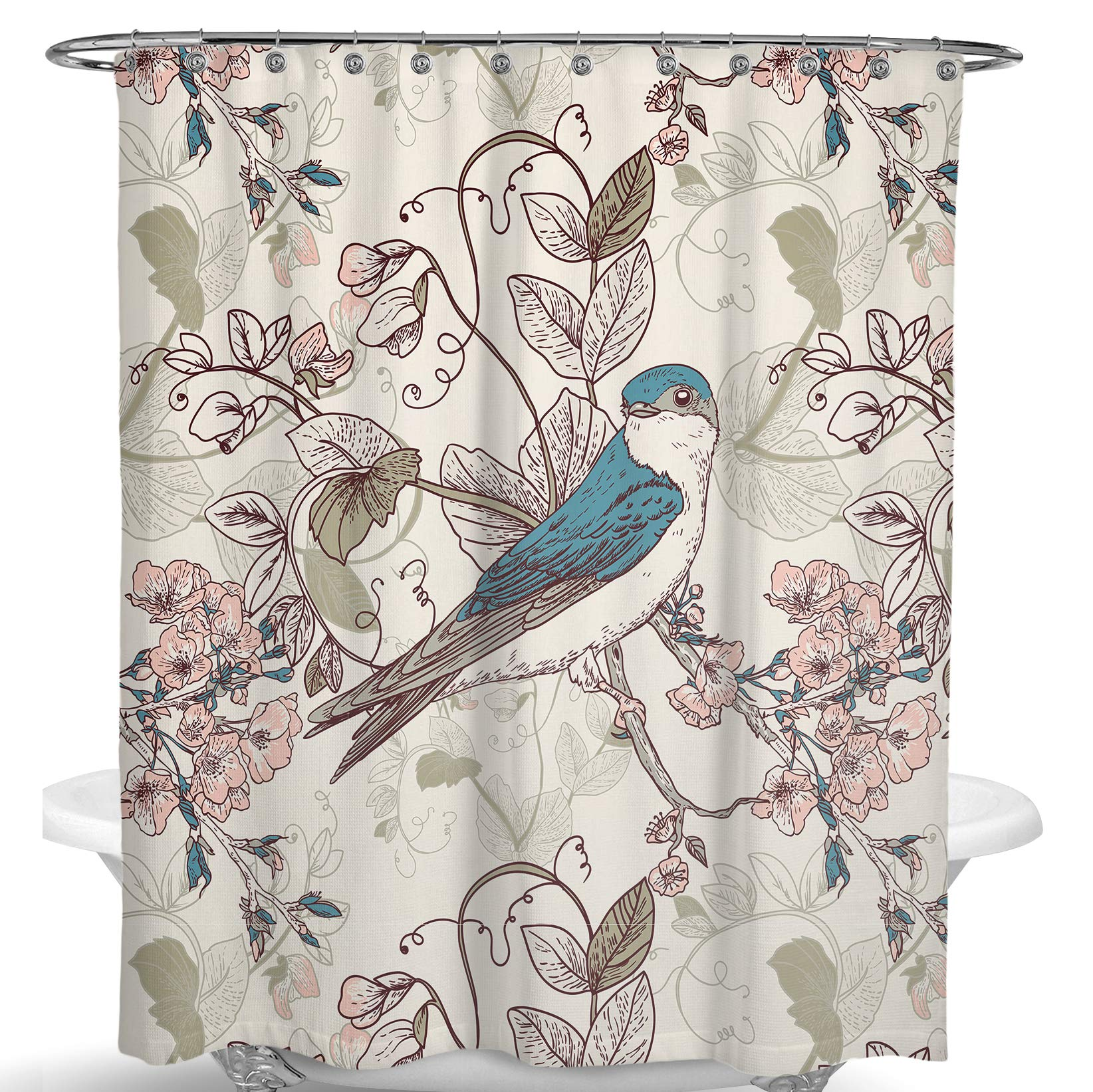 AooHome Stall Size 36x72 Inch Shower Curtain Liner Half Size Solid Shower Cur...